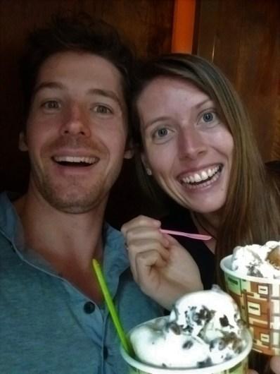 Us enjoying amazing gelato from Gelato Messina