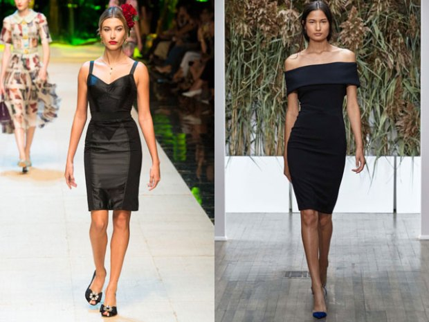 Mini black dresses spring summer 2018