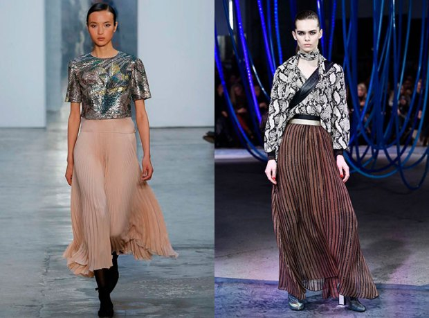 Pleated skirts fall winter 2018 2019