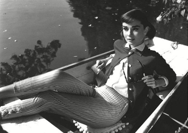 Audrey Hepburn in capri pants