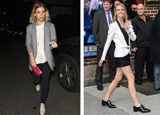 H ow to wear a jacket like Brooklyn Decker and Kate Mara