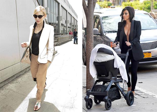 How wear a jakets Cate Blanchett; Kim Kardashian