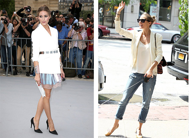 How wear a jaket Olivia Palermo