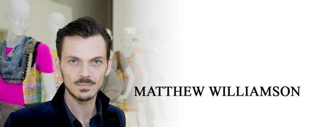 British fashion designers Matthew Williamson