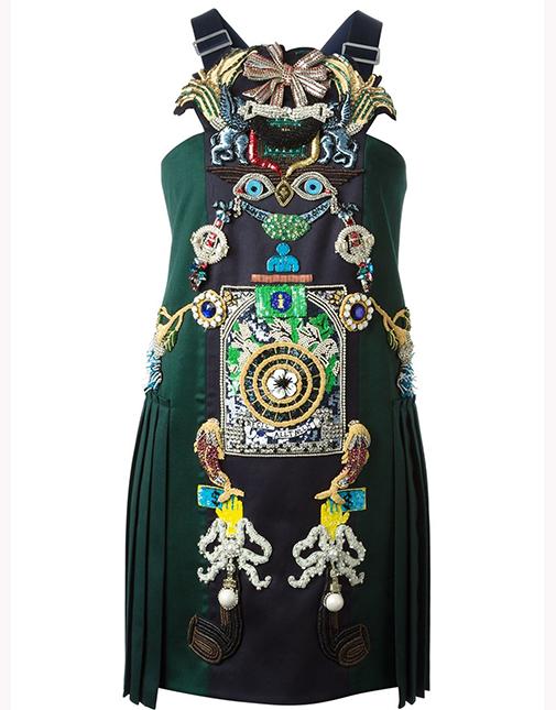 New Woolen dress Tiki Man by Mary Katrantzou