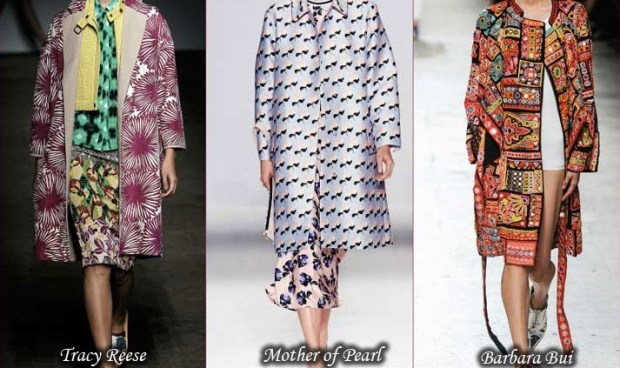 Spring 2016 trendy prints of trench coats