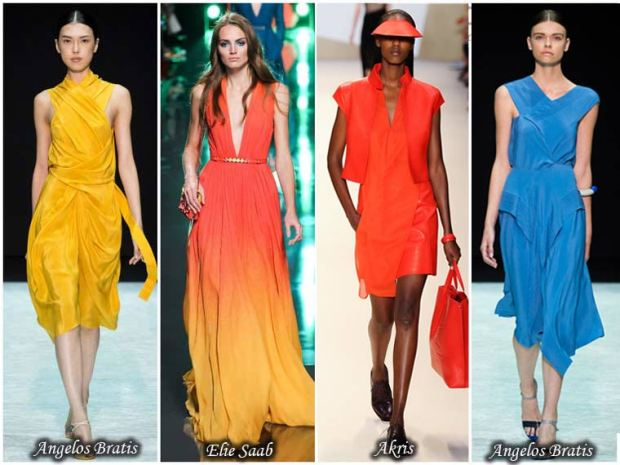 Color intensity dress Spring 2016