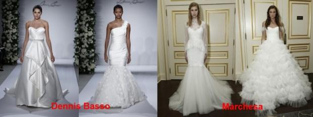 No bright wedding dresses Spring 2016
