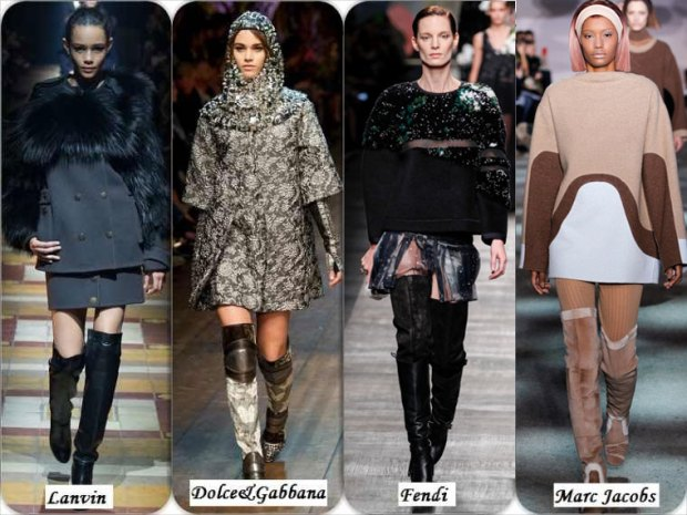 Trendy over the knee boots Winter 2016
