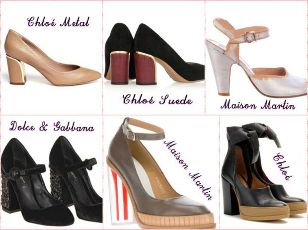 Stable thick heel shoes Spring 2016