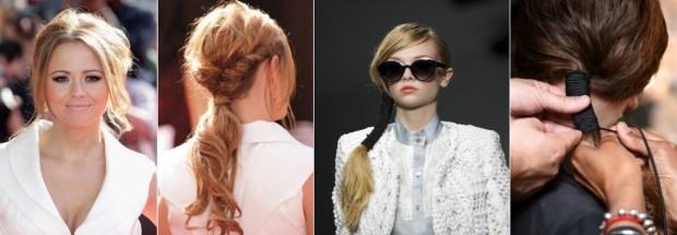 Evening ponytails