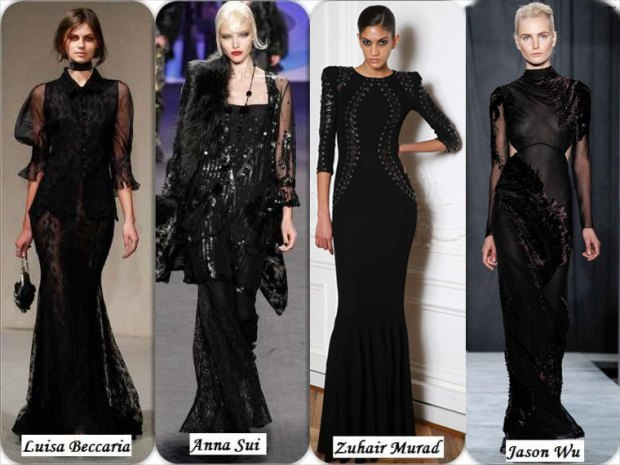 Long, black and elegant dresses Winter 2016