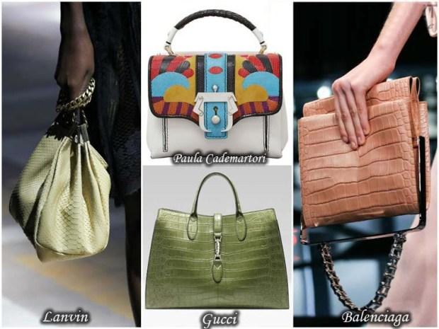 Snake skin imitation bags Spring 2016
