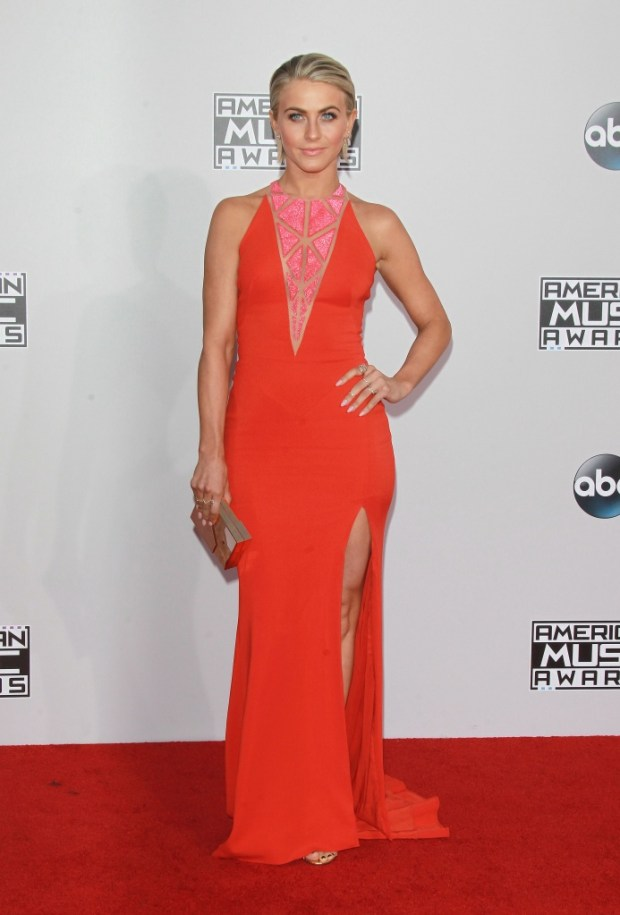 Julianne Hough outfits at American Music Awards 2015