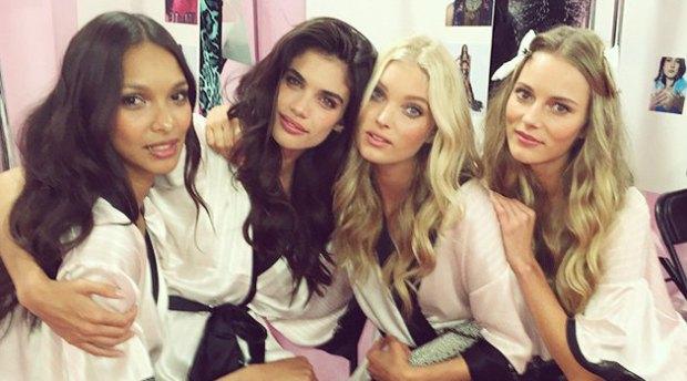 Backstage Victorias Secret show in London