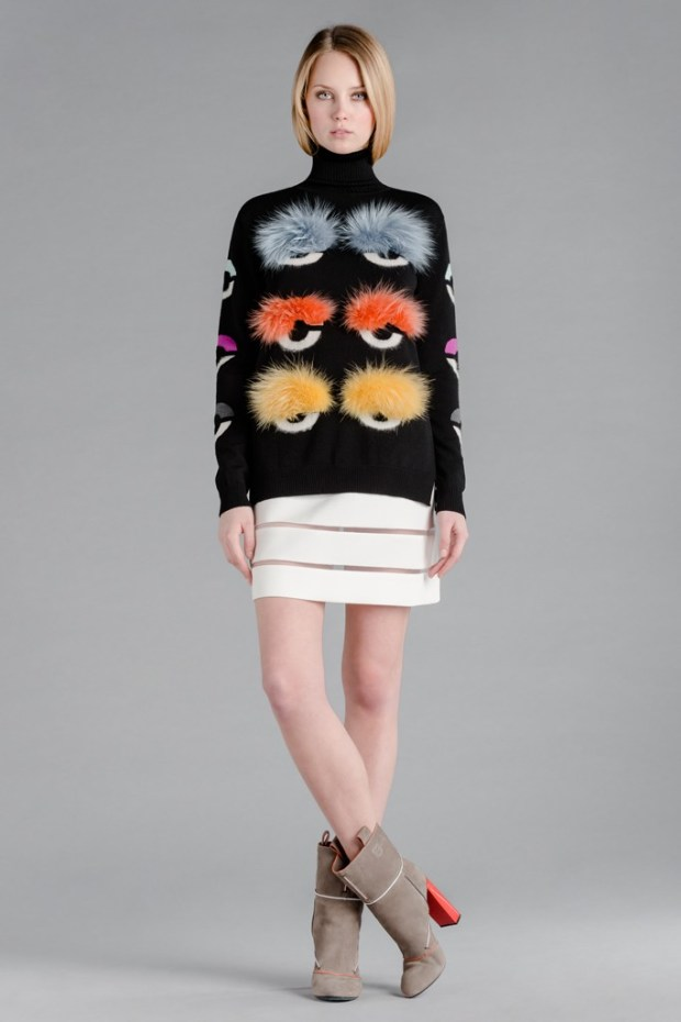 The Fendi brand presented their mid season collection