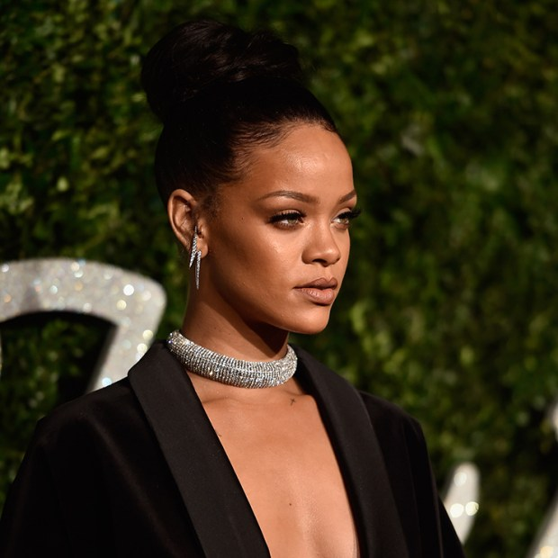Rihanna at the ceremony of British Fashion Awards, December 1, 2015