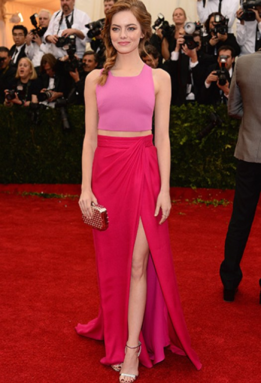 Emma Stone pink outfit