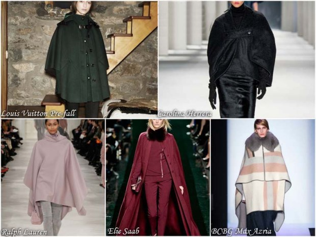 Trendy coats with cape