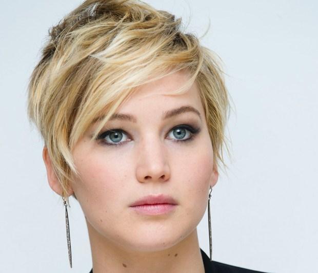 Celebrity Jennifer Lawrence short hair