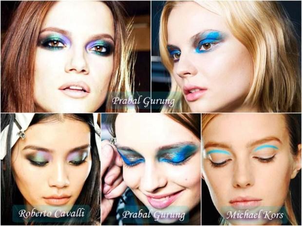 Greenish blue eyeshadows make up New Year 2016