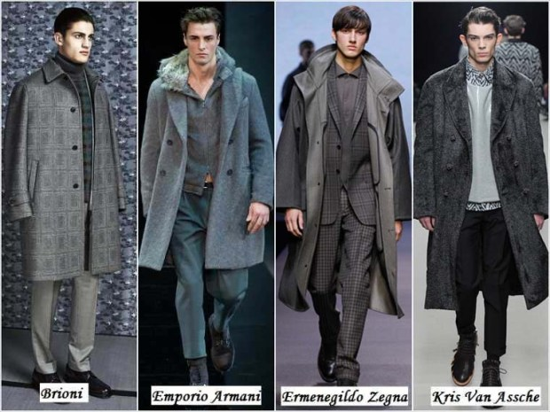 Gray color clothes for men Winter 2016