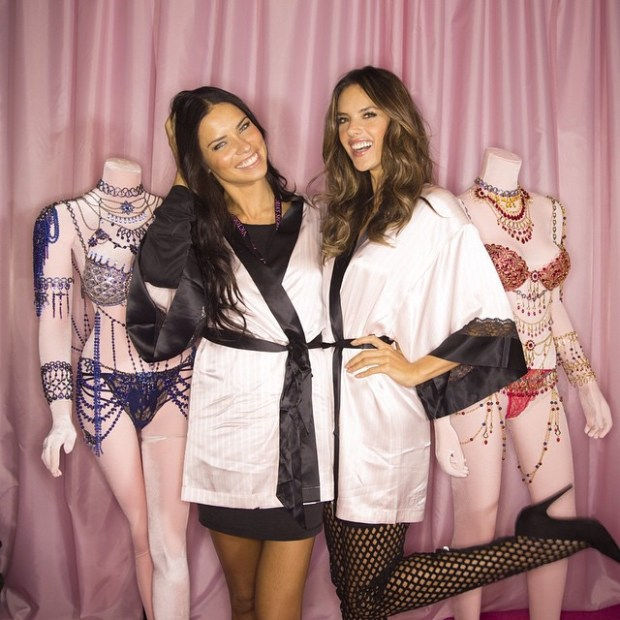 Adriana Lima and Alessandra Ambrosio Victoria's Secret show London 2015