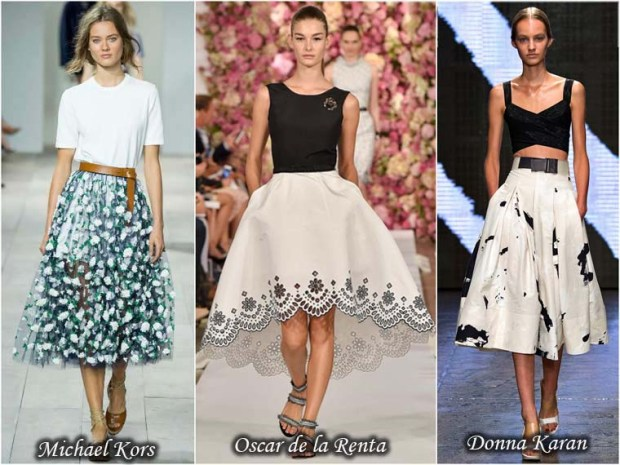Fashionable Puff skirts Spring 2016