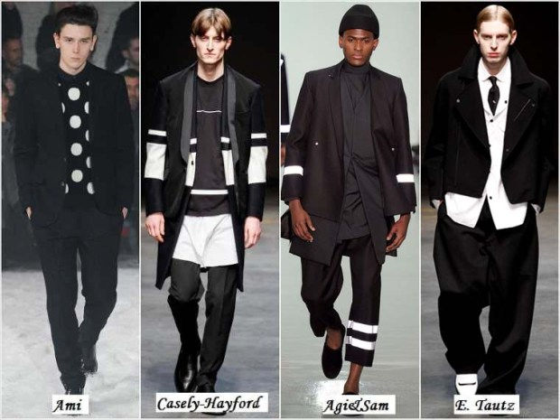 Trendy black and white clothes for men Winter 2016