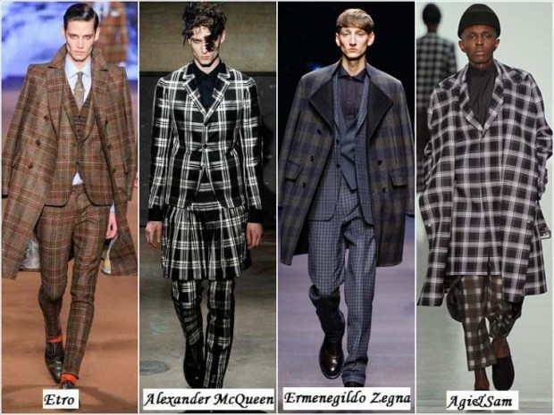 Checked clothes for men Winter 2016