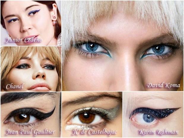 Beautiful eyeliner wing makeups New Year 2016