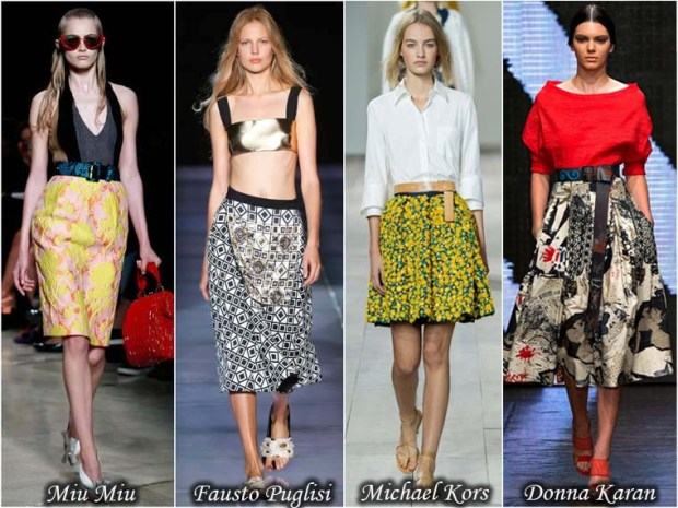 Beautiful skirts with prints Spring 2016
