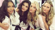 Backstage Victoria's Secret show in London Photos