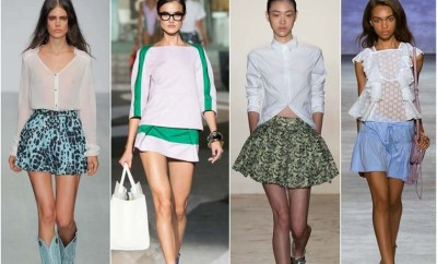 Fashionable skirts Spring 2015 - mini, classic and sport style