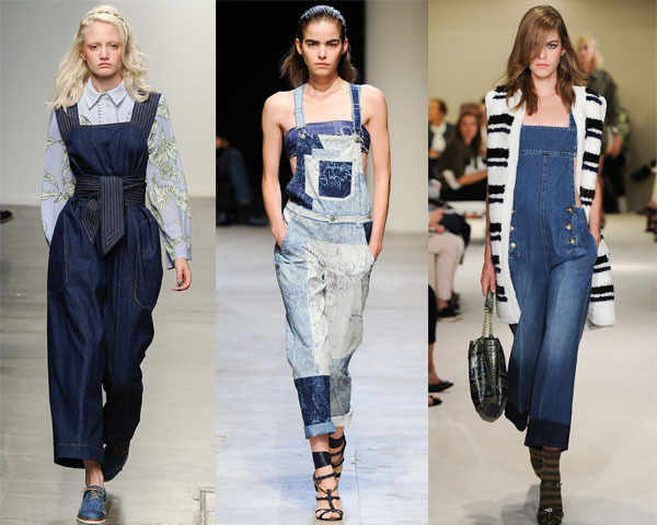 Trendy denim overalls