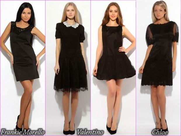 The classic short little black prom dress