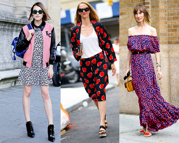 Polka dot clothing in Paris and New York