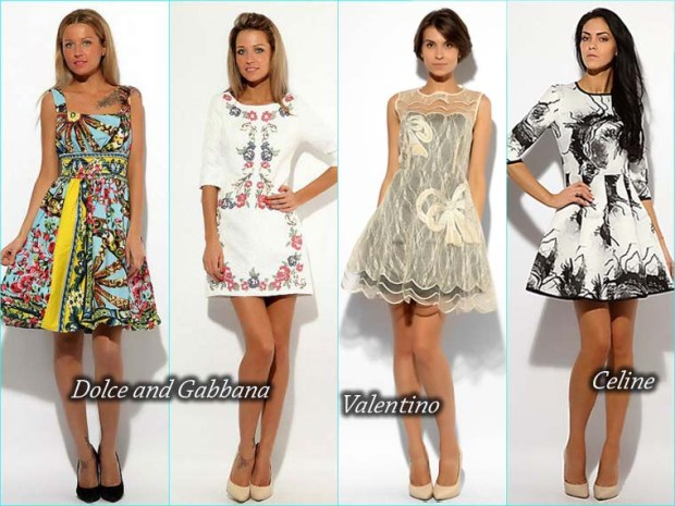 Short floral print prom dress 2016