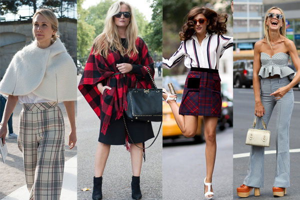 Street style in checks
