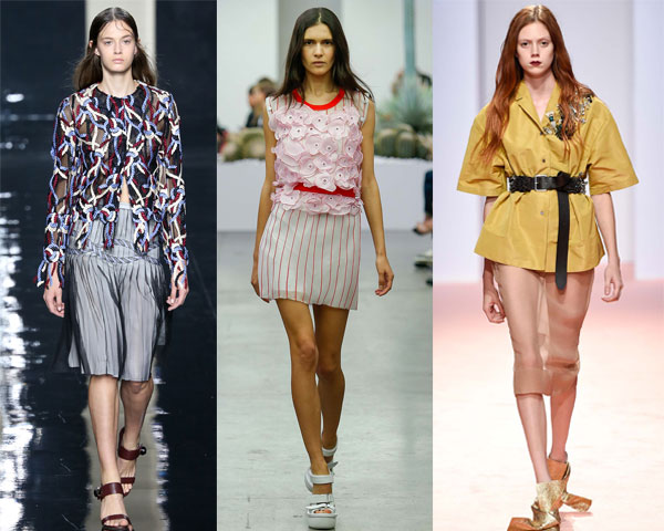 Colorful blouses for summer