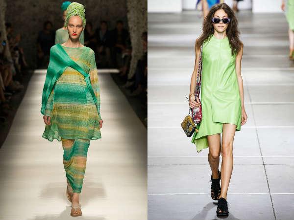 Green tunics