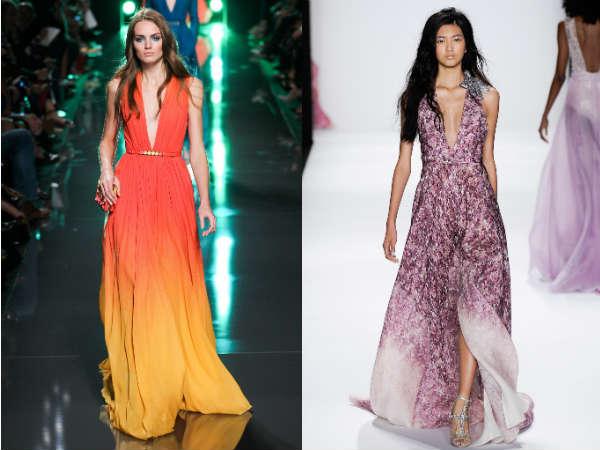 Long elegant evening dresses