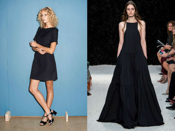 Short and maxi black