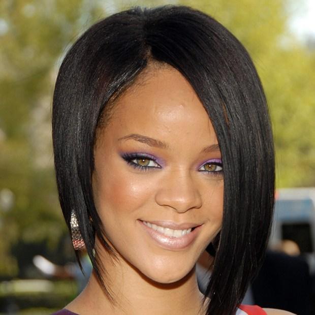 Rihanna's asymmetrical bob hairstyle