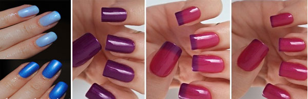 Spring 2016 manicure with thermal nail polish