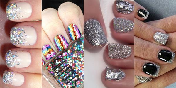 2015 Glitter nails Spring-Summer