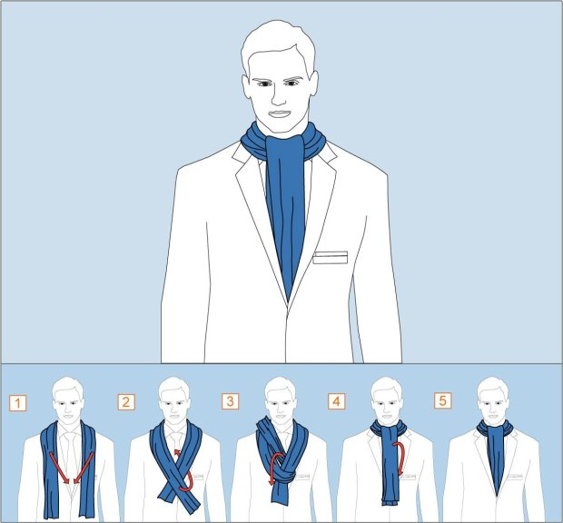 How to wear Ascot knot