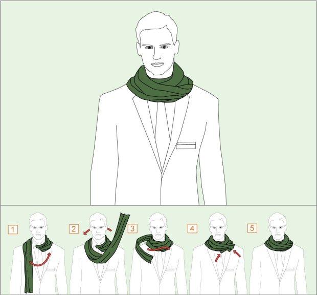 How to wear Twice Round tie