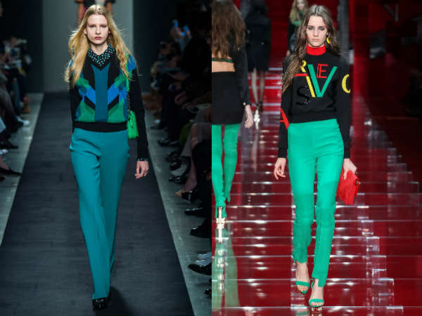 Turquoise pants pattern