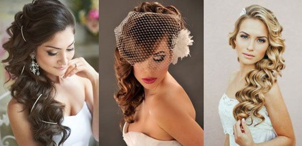 Wedding hairstyle with curls 2016